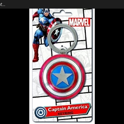 Picture of Captain America shield alloy keychain