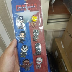 Picture of Hot Toys - Captain America Civil War - 8 Pieces Metal Pin Set