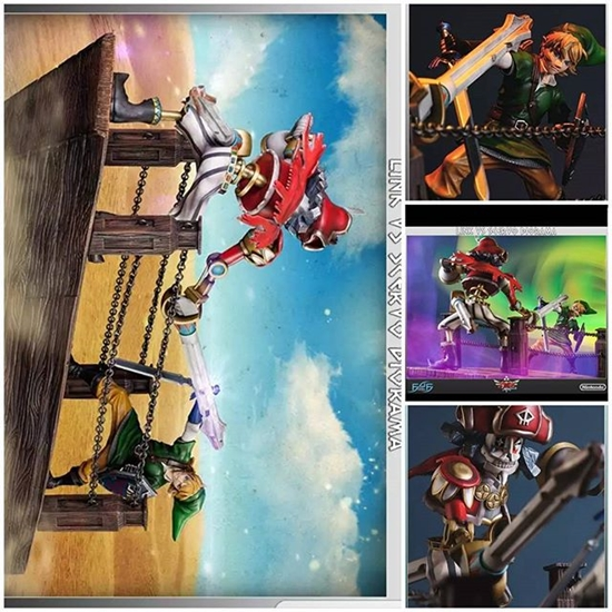 Picture of First 4 Figures - The Legend of Zelda: Skyward Sword - Link Vs. Scervo diorama