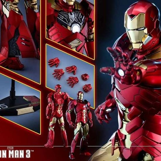 Picture of Hot Toys - Iron Man 3 - Iron Man Mark XV Sneaky Retro Version Exclusive