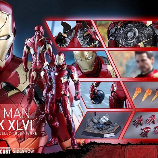 Picture of Hot Toys - Captain America Civil War - Iron Man Mark XLVI (46) Diecast Alloy