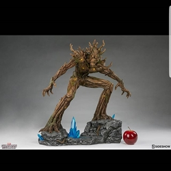 Picture of Sideshow Exclusive Guardians of the Galaxy Groot with Exclusive Swap Out Attack Tree Arm