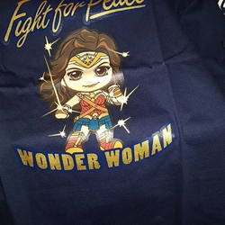 Picture of Hot toys cosbaby justice league wonderwoman authentic large shirt