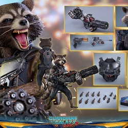 Picture of Guardians of the galaxy 2 - hot toys rocket raccoon deluxe version